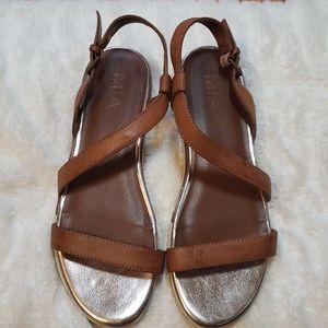 🔹️MIA Sandals, Brown, gold, sz 6 1/2